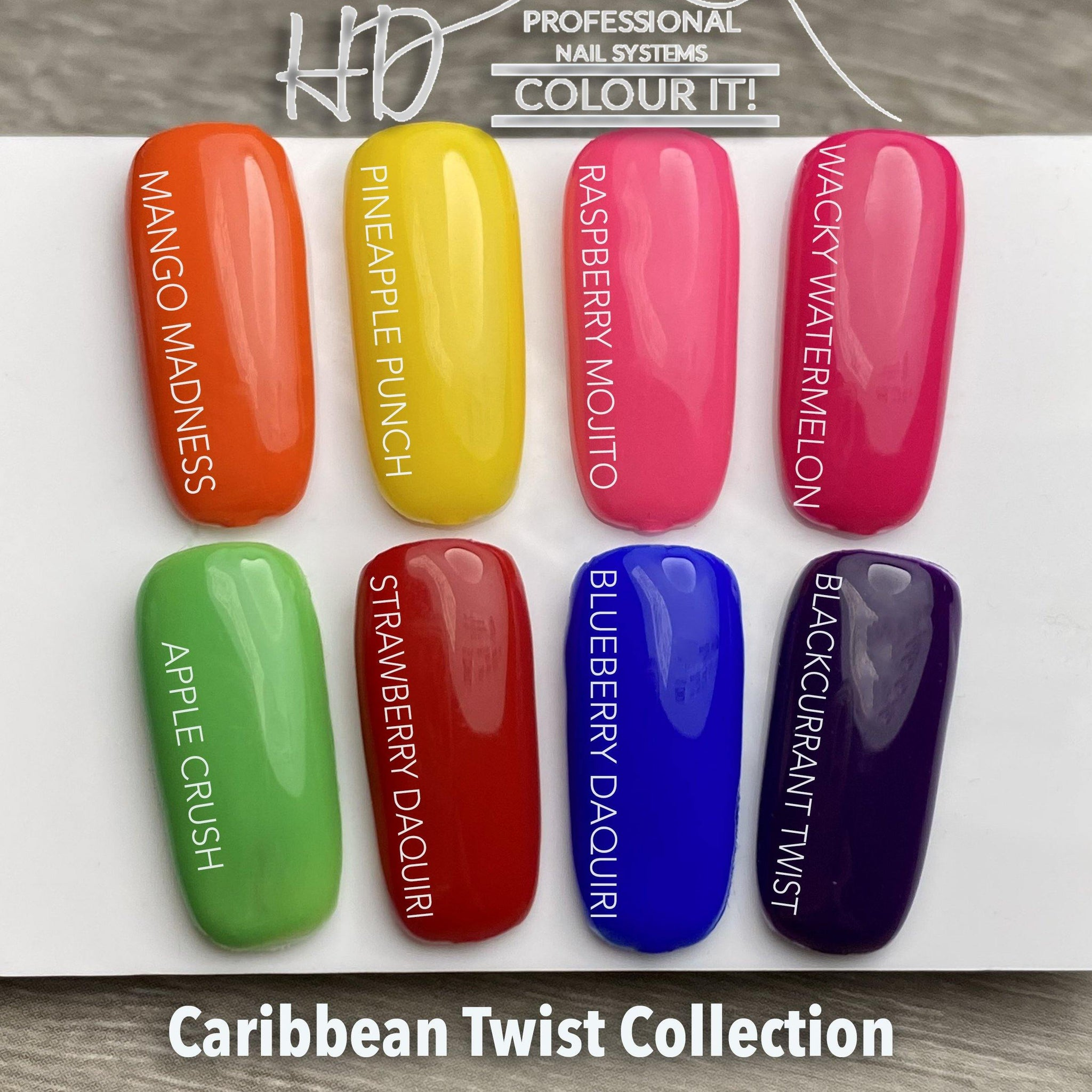 HD Colour It! Caribbean Twist Collection (all 8 colors 15ml)