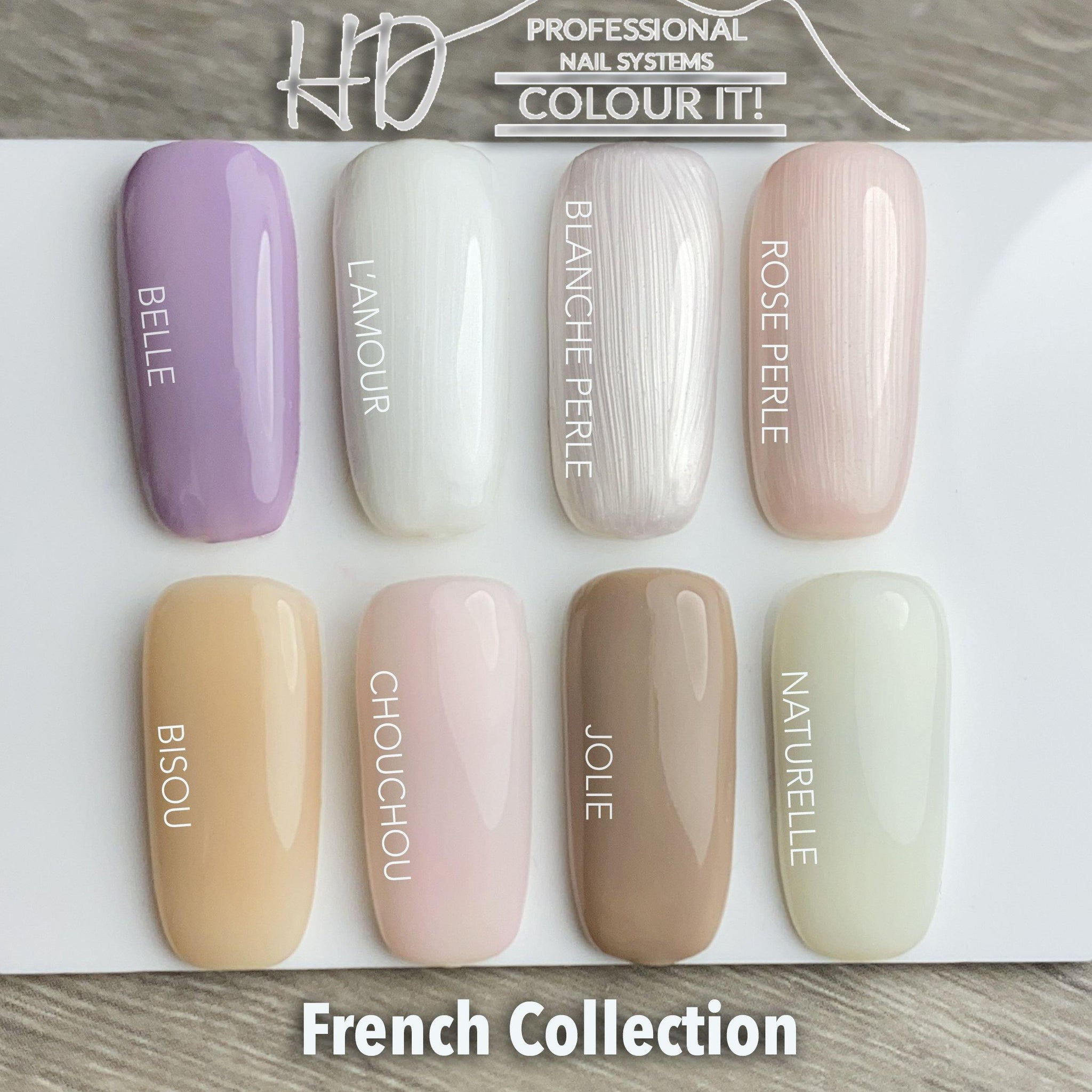 HD Colour It! French Collection (all 8 colors 15ml)