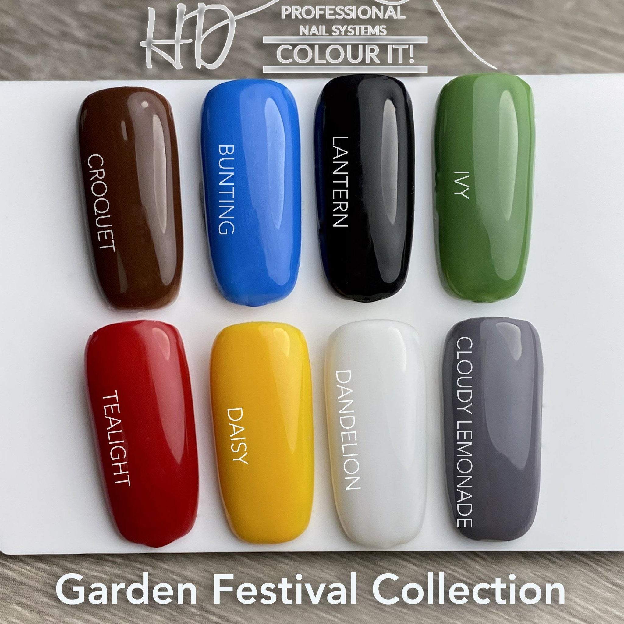 HD Colour It! Garden Festival Collection (all 8 colors 15ml)