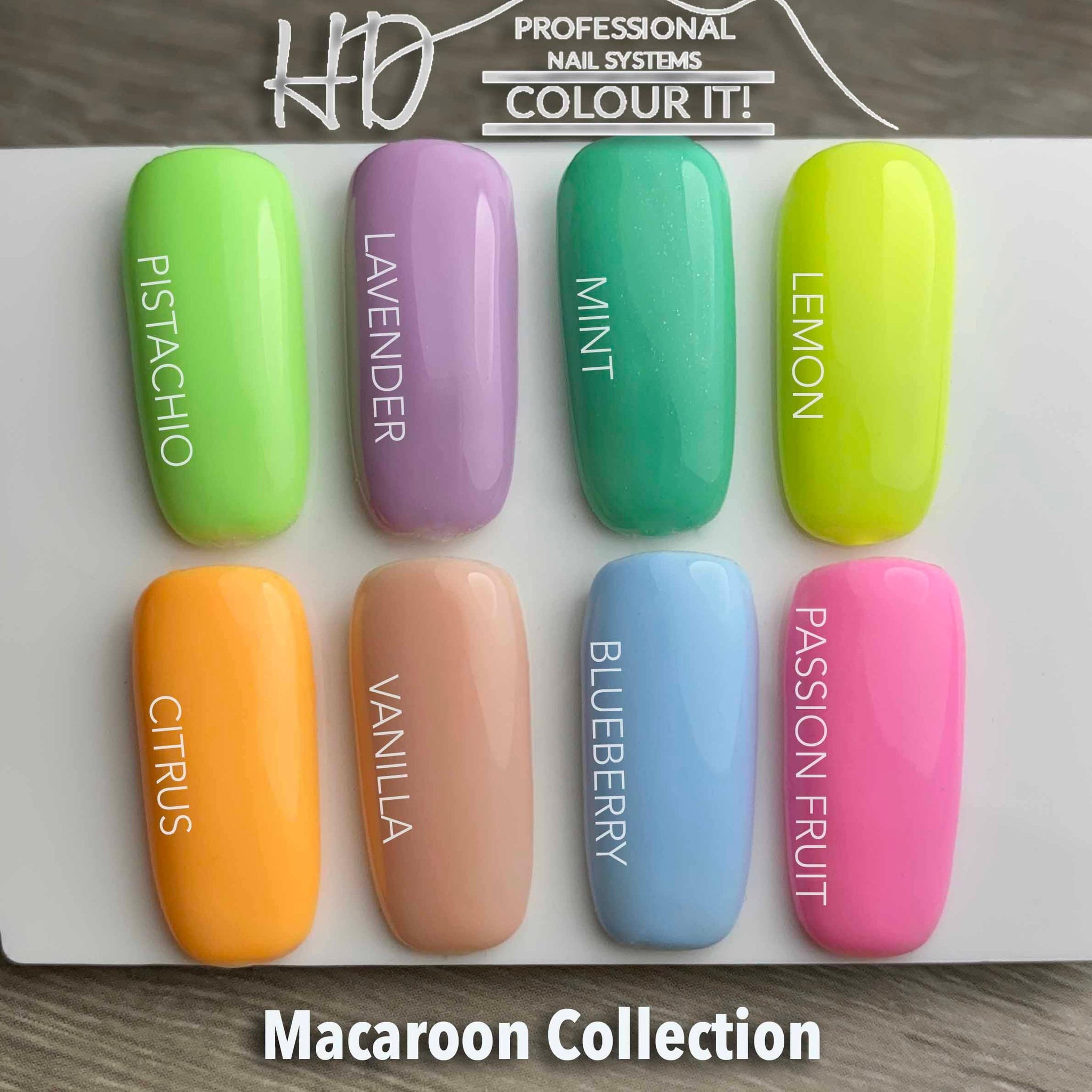 HD Colour It!  Macaroon Collection (all 8 colors 15ml)