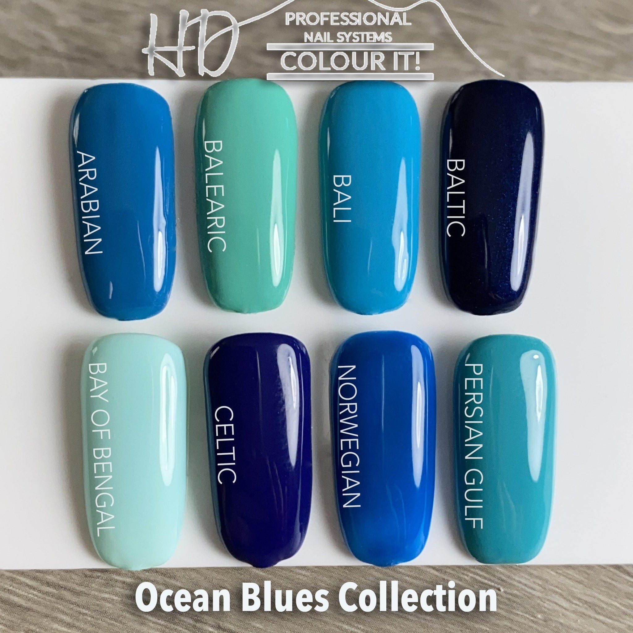 HD Colour It! Ocean Blues Collection (all 8 colors 15ml)