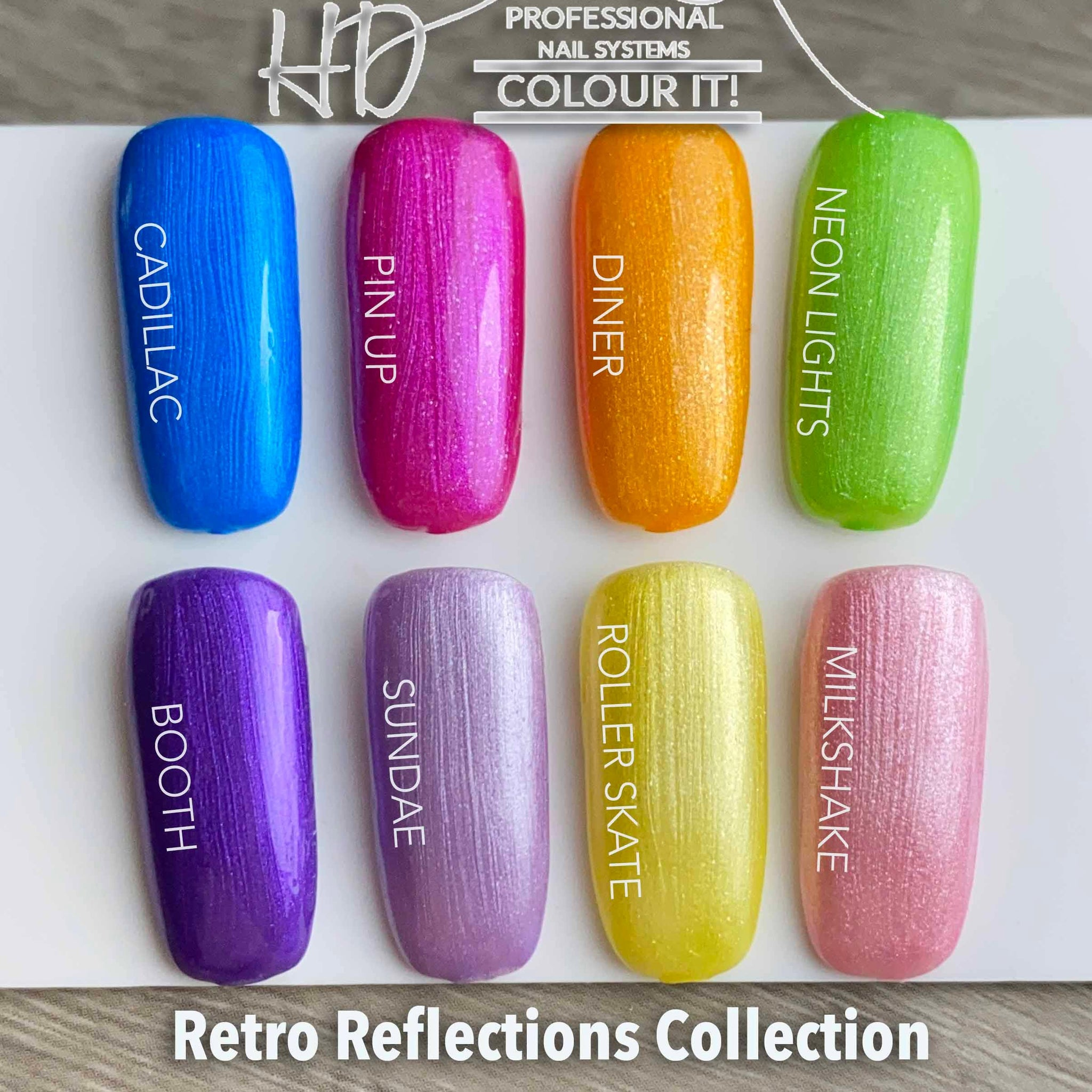 HD Colour It! Retro Reflections Collection (all 8 colors 15ml)