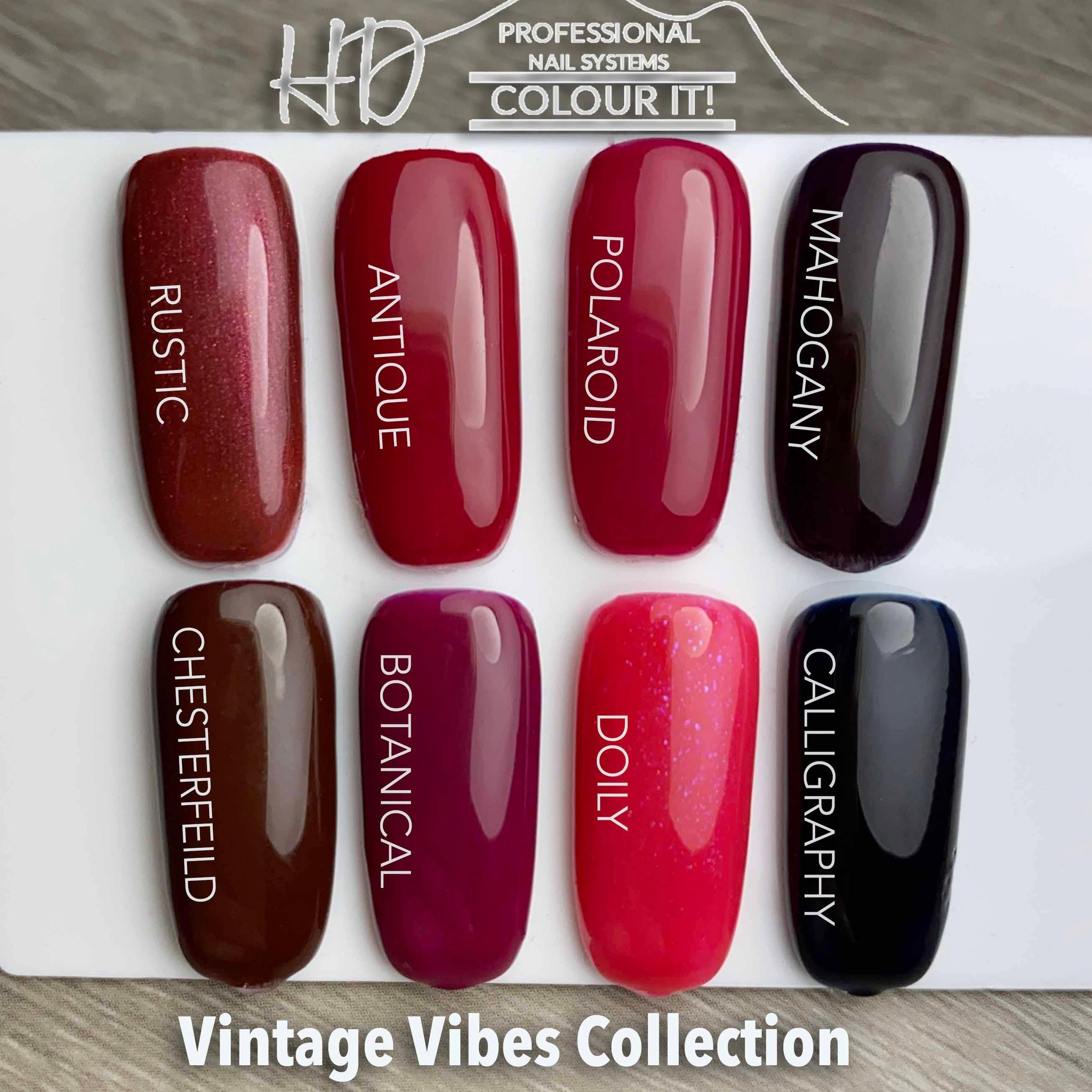 HD Colour It! Vintage Vibes Collection (all 8 colors 15ml)