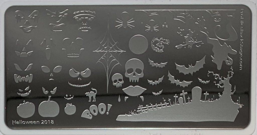 PF Stamping Plate Halloween 2018