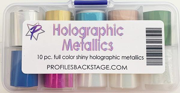 10PC. Holographic Metallics Transfer Foil Set