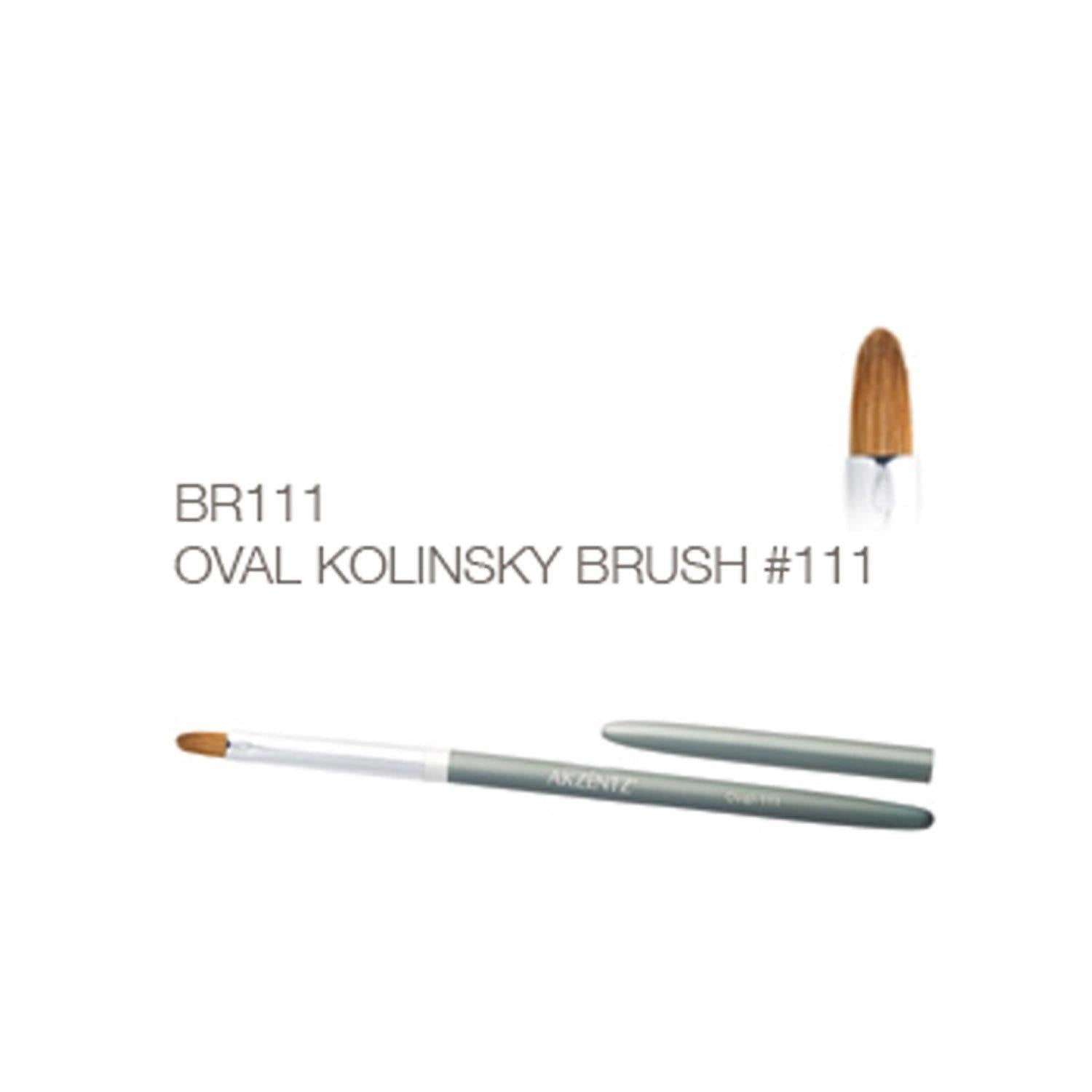 Premium Oval Kolinsky Brush #111-Gel Essentialz
