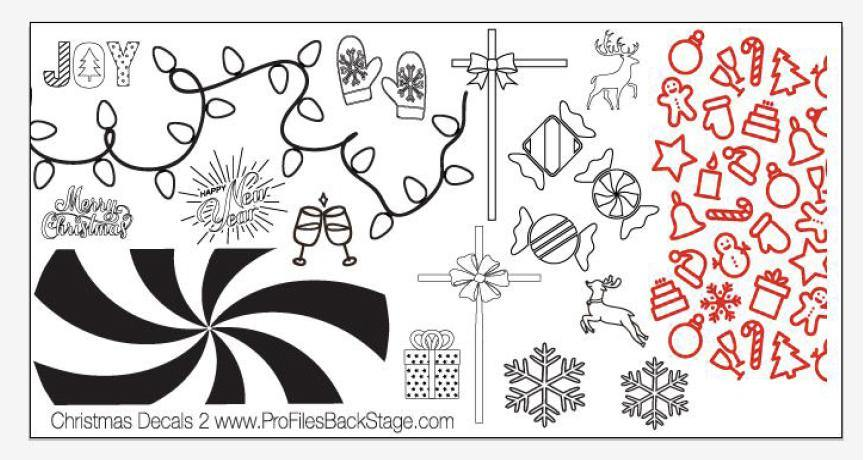 PF Stamping Plate Christmas Decals 2