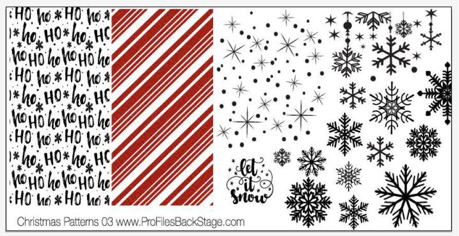 PF Stamping Plate Christmas Patterns 3