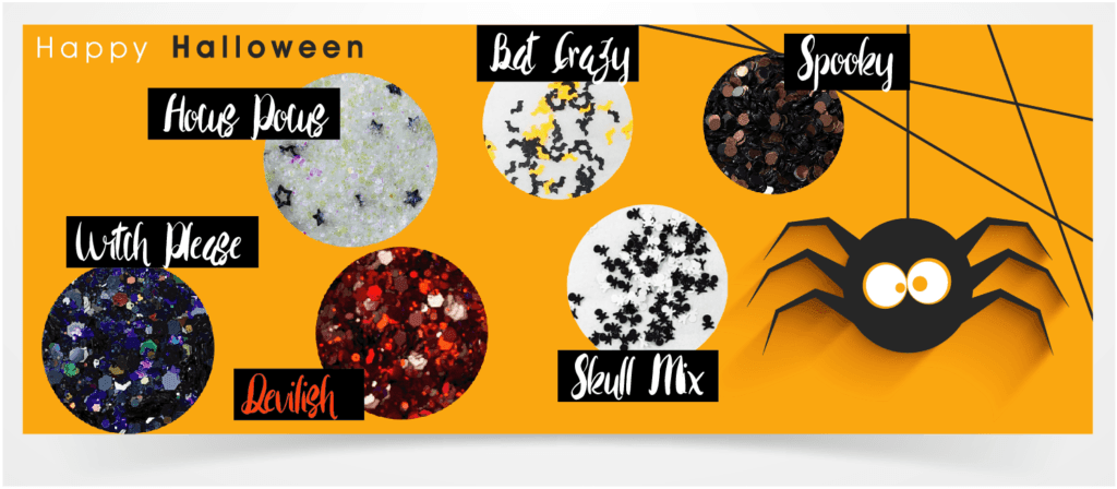 6pc Halloween 2019 Glitter Collection