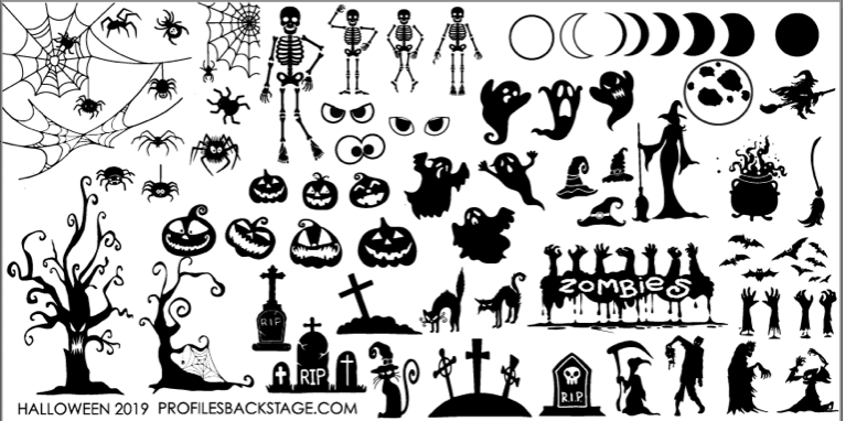 PF Stamping Plate Halloween 2019