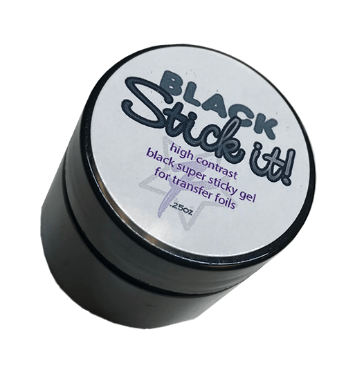 Black Stick it Transfer Foil Gel