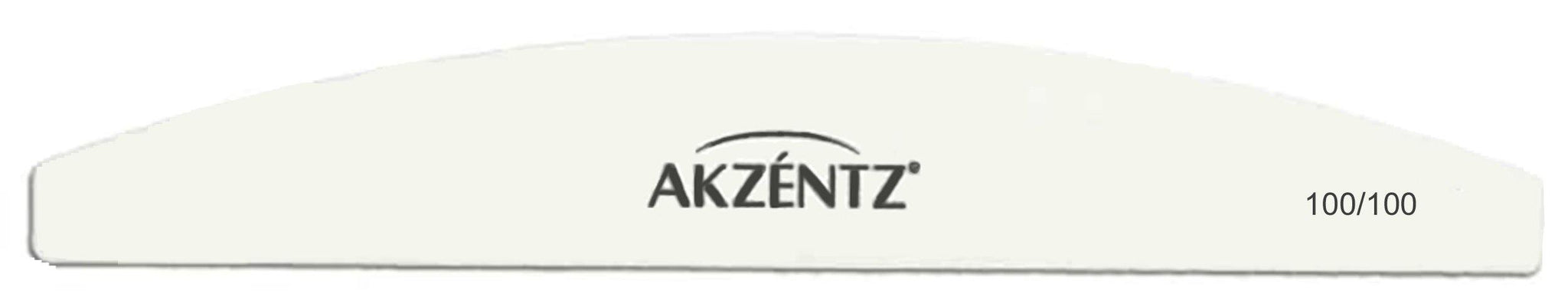 White Akzentz Curved Files-Gel Essentialz