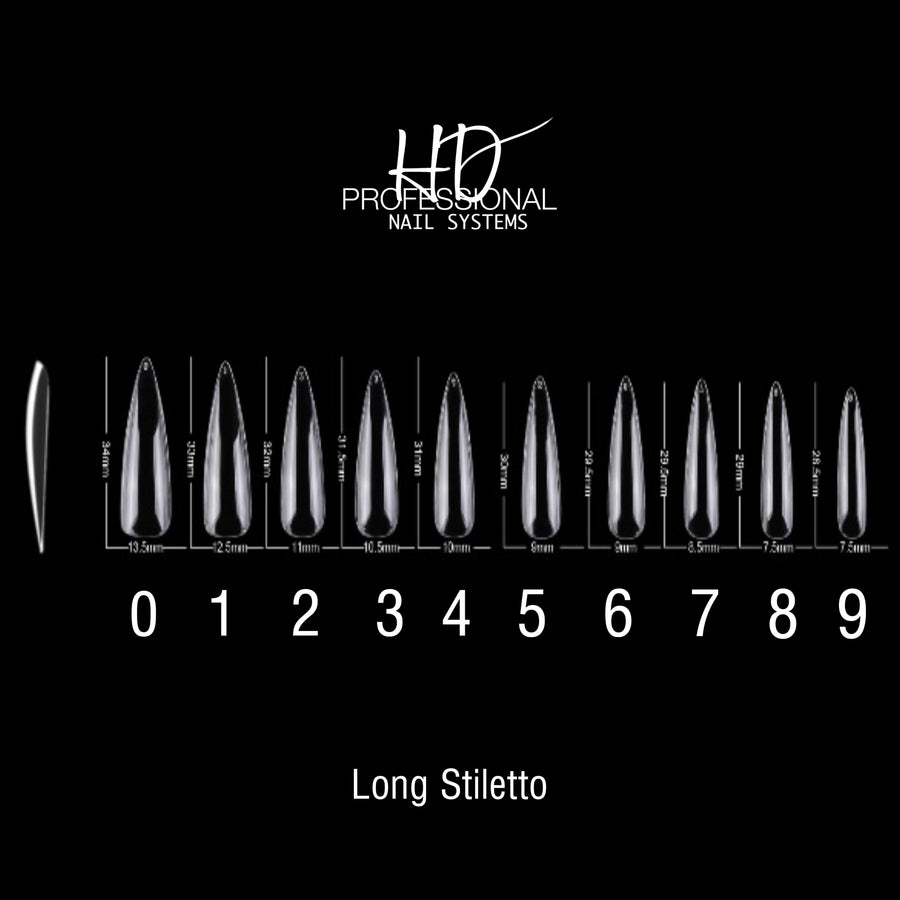 HD Eeeze Gel Nail Tips - Long Stiletto *NEW*