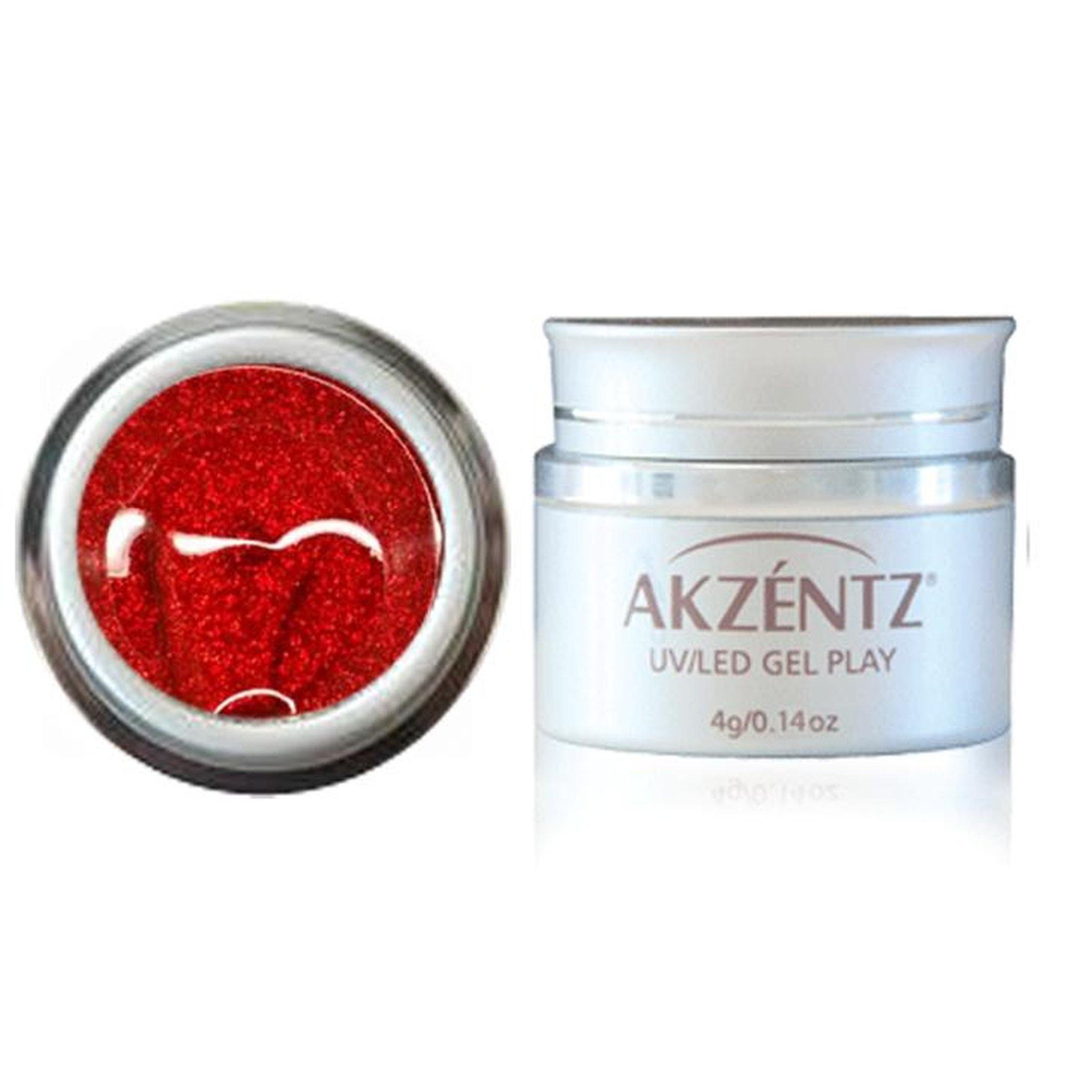 GEL PLAY - GLITTER CHERRY RED-Gel Essentialz
