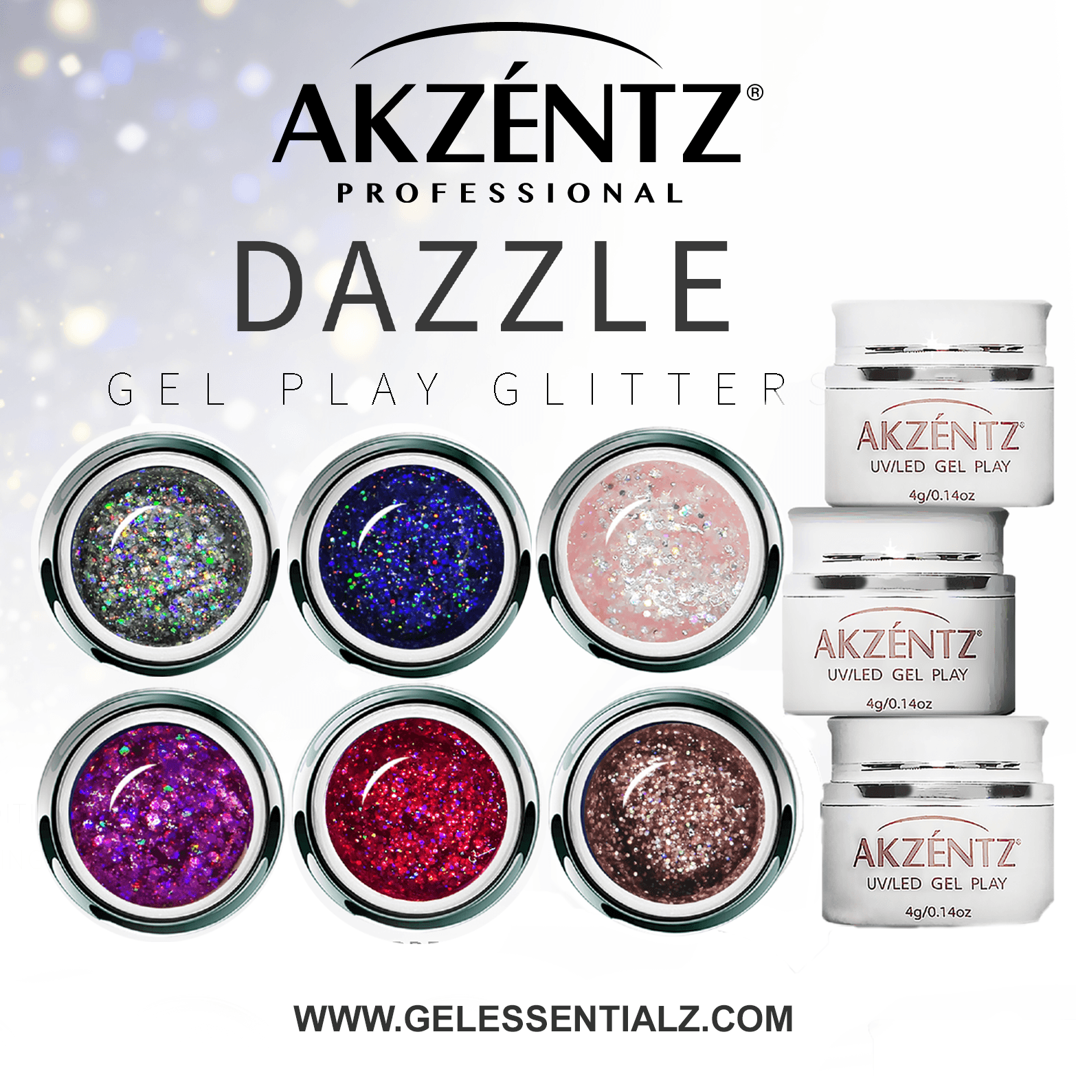 Gel Play Dazzle Mini's 6X2G