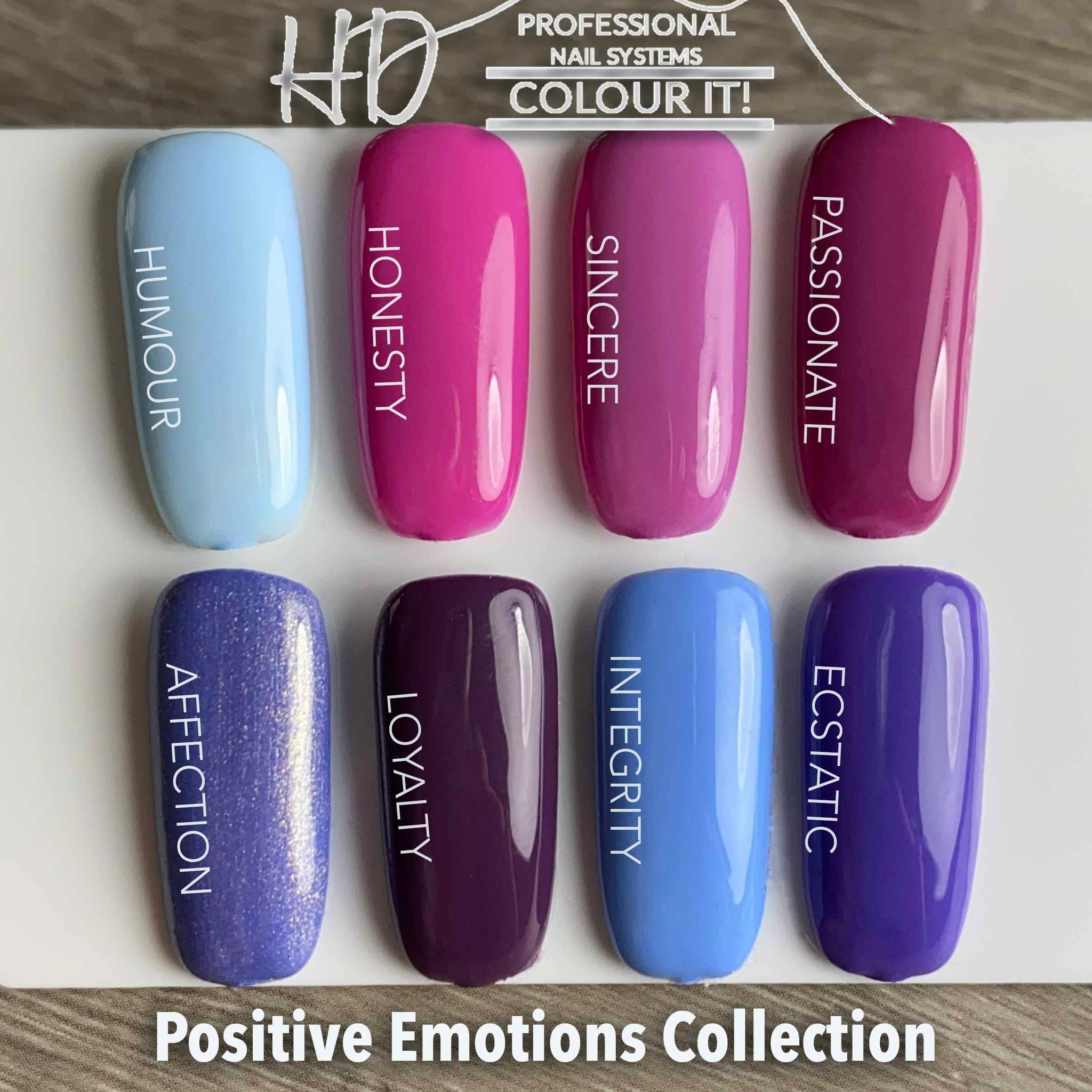 HD Colour It! Positive Emotions Collection (all 8 colors 15ml)