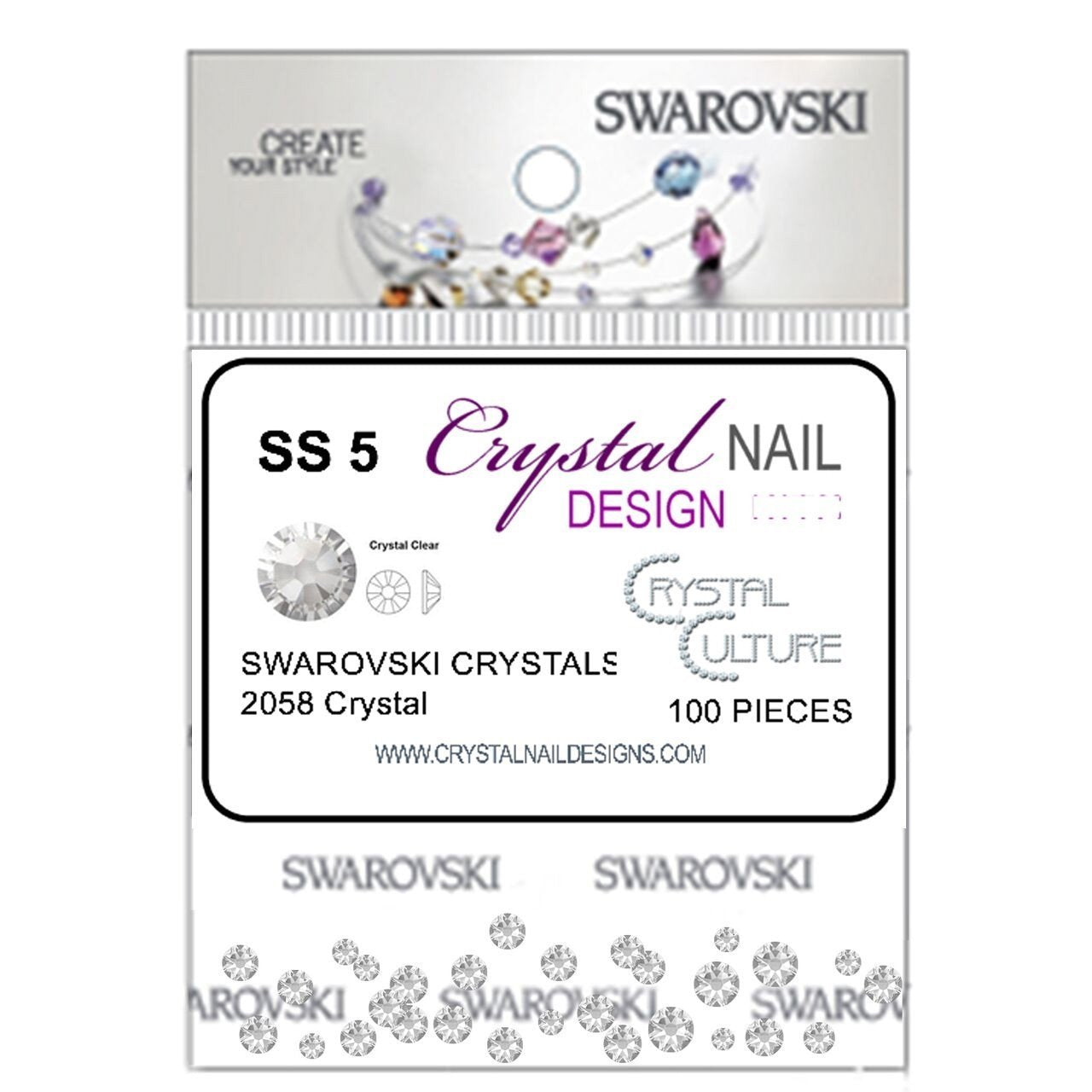 Light Chrome - SWAROVSKI FLATBACK-Gel Essentialz