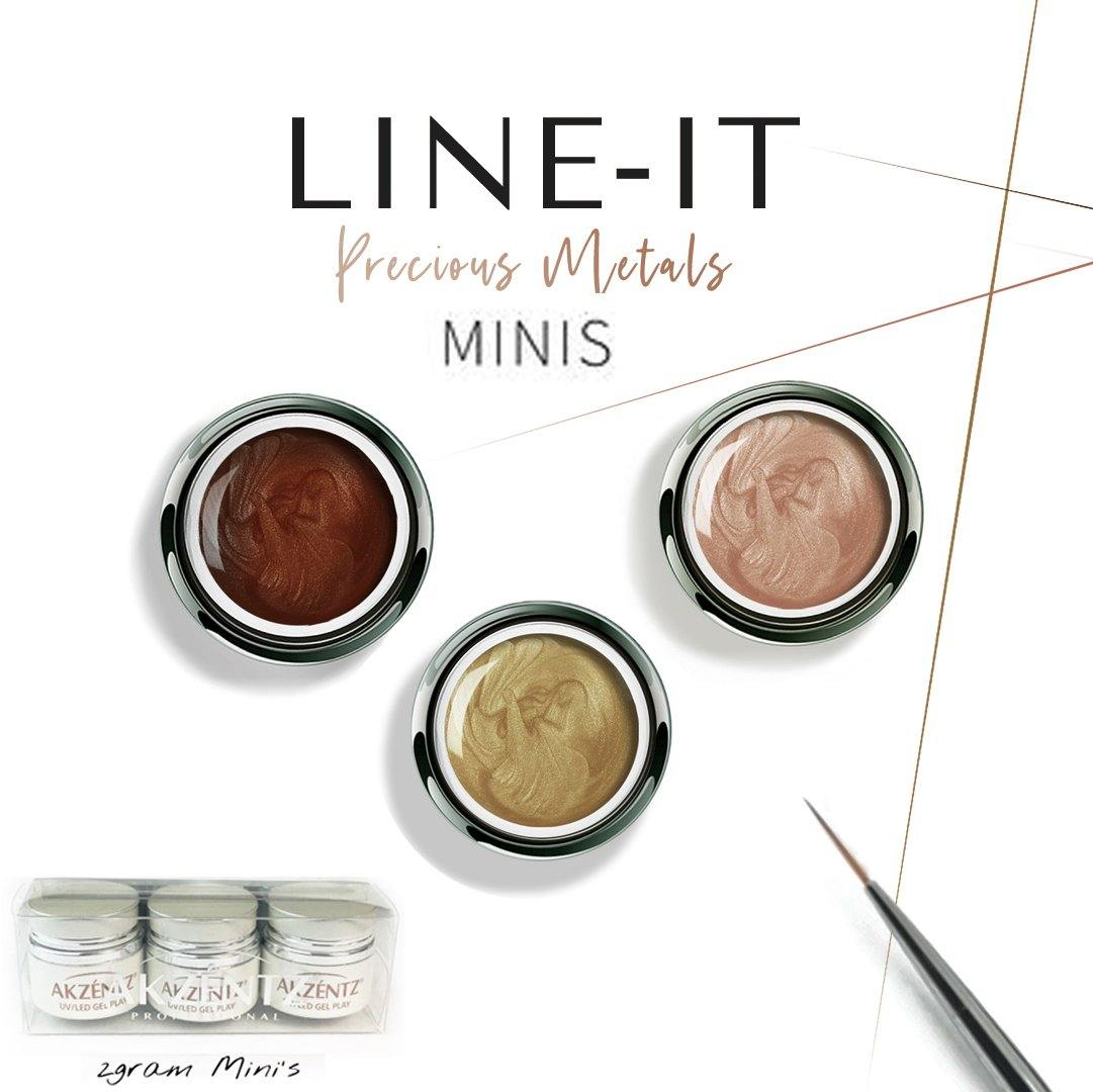*NEW* GEL PLAY LINE-IT PRECIOUS METALS COLLECTION MINI'S