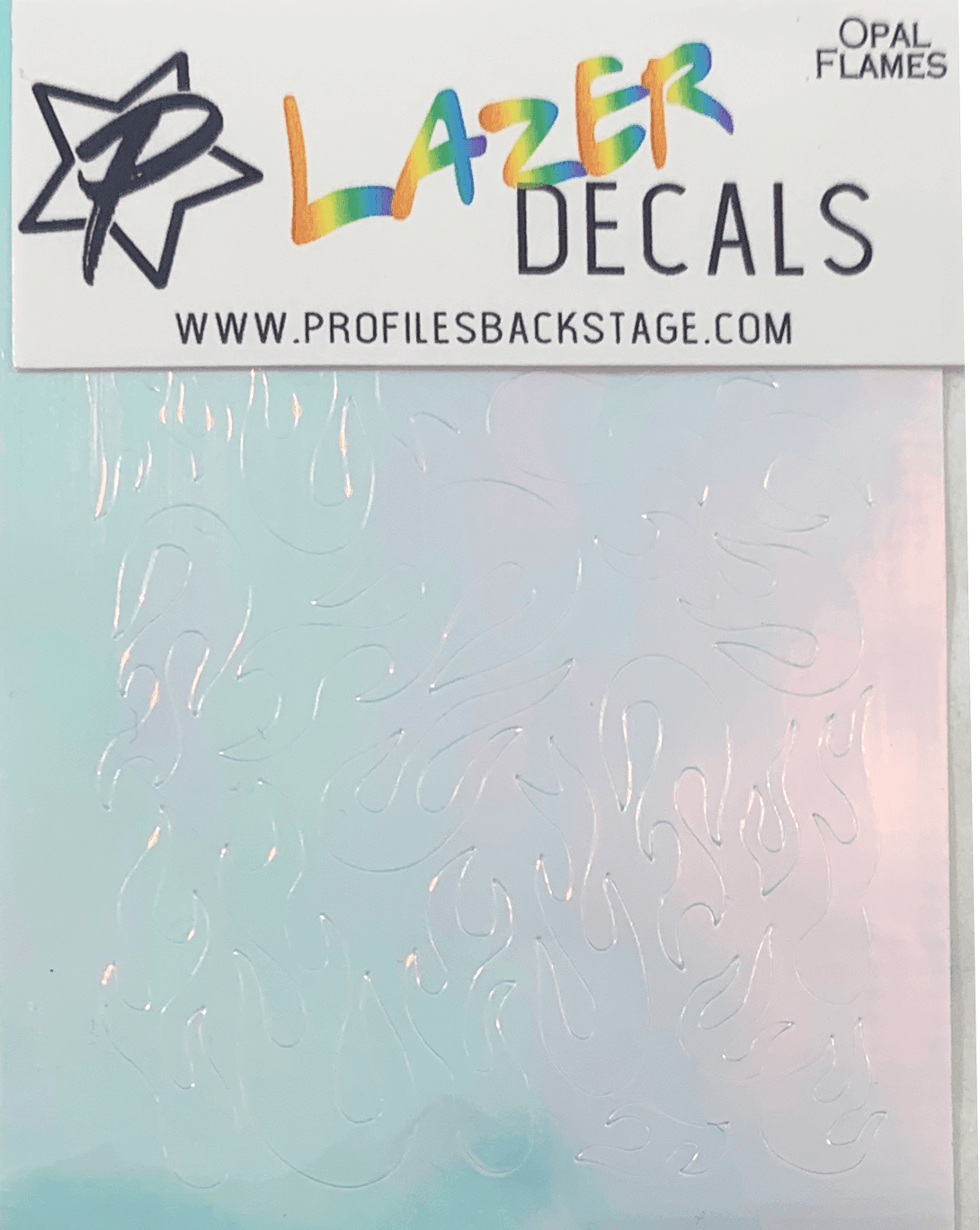 Lazer Decals Flames - Opal