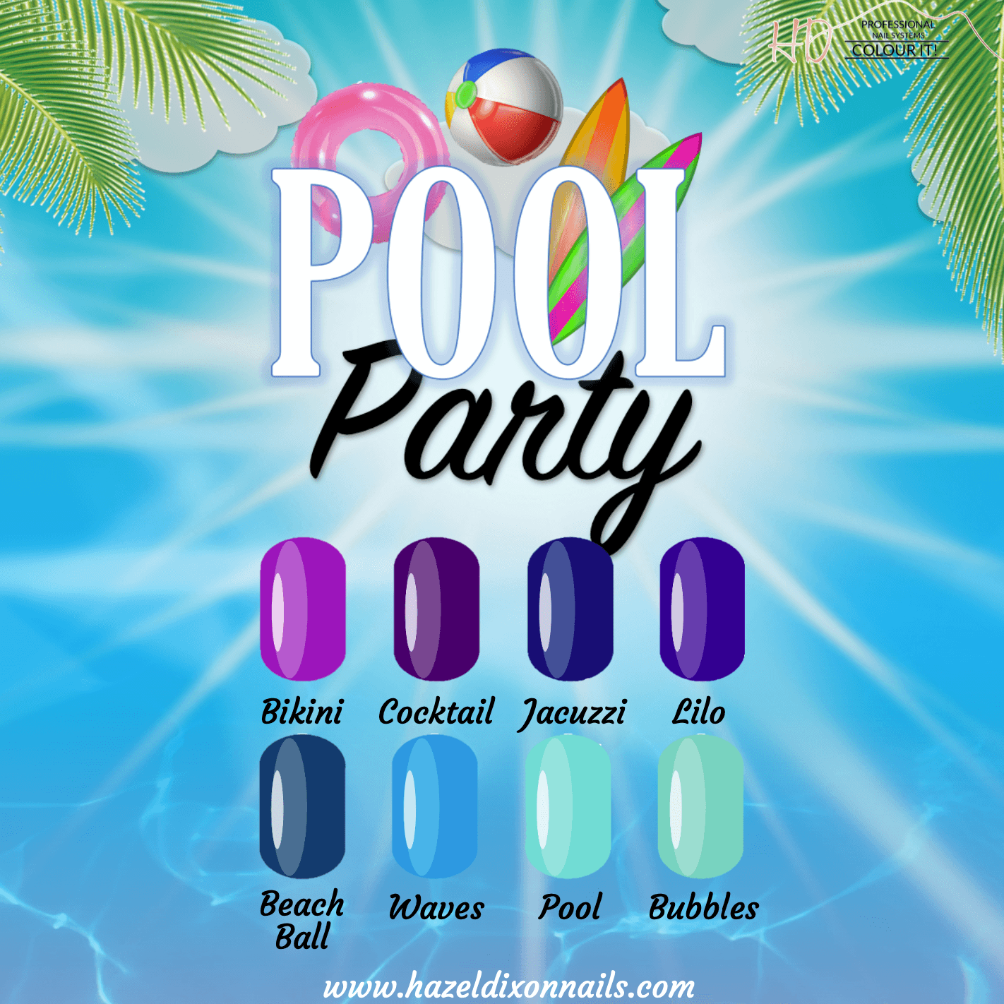 HD Colour It! Pool Party Collection (all 8 colors 15ml)