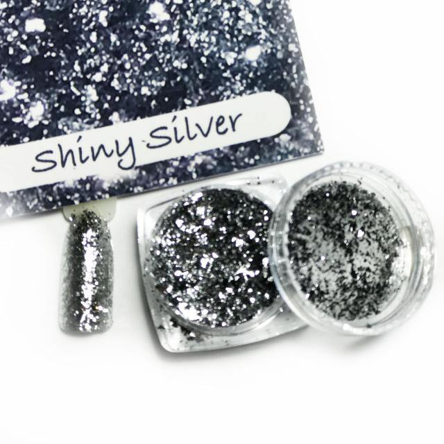 Chrome Candy Shiny Silver-Gel Essentialz