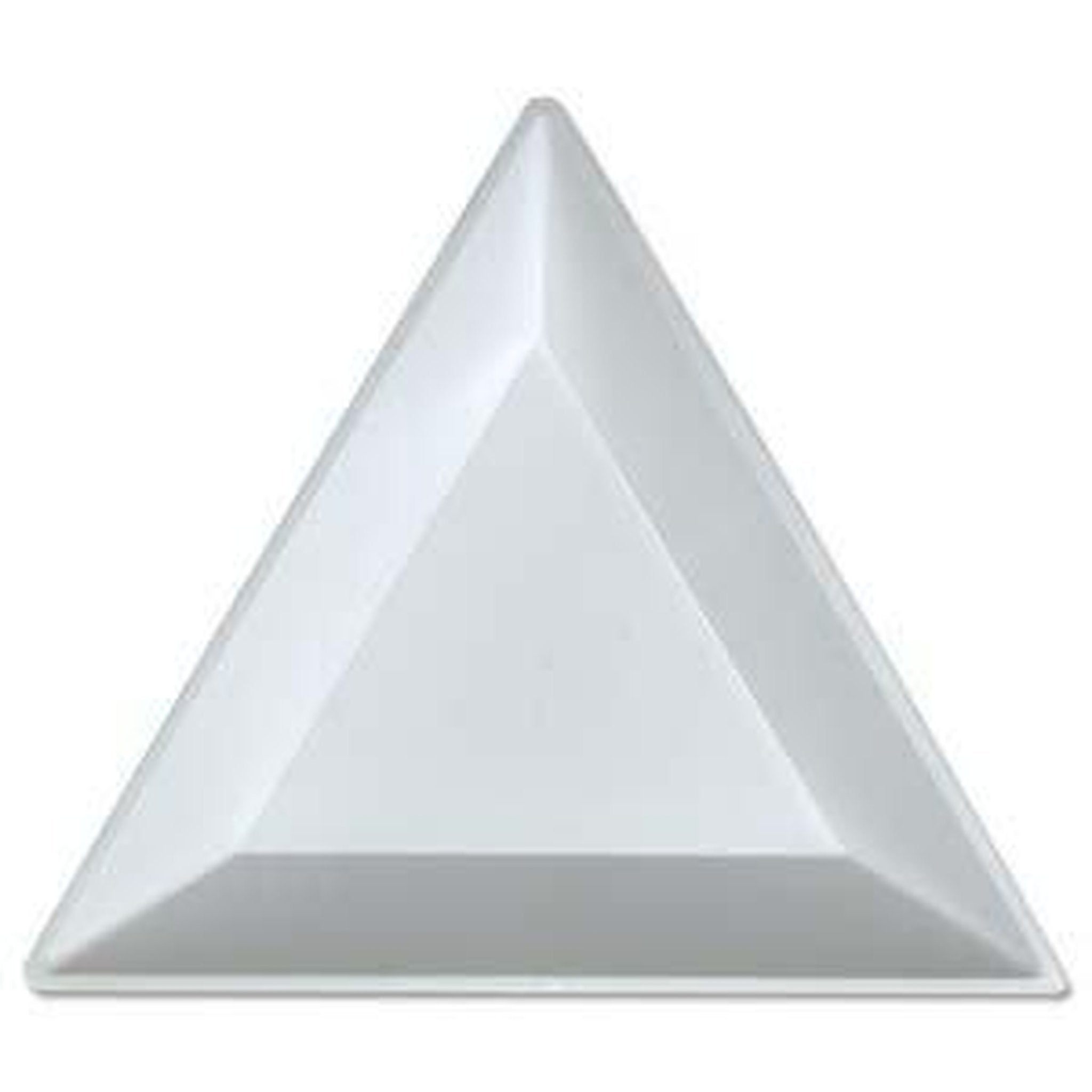 SMALL WHITE TRIANGLE TRAY-Gel Essentialz