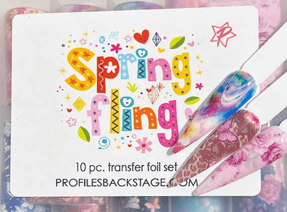 10Pc. Spring Fling Transfer Foil Set