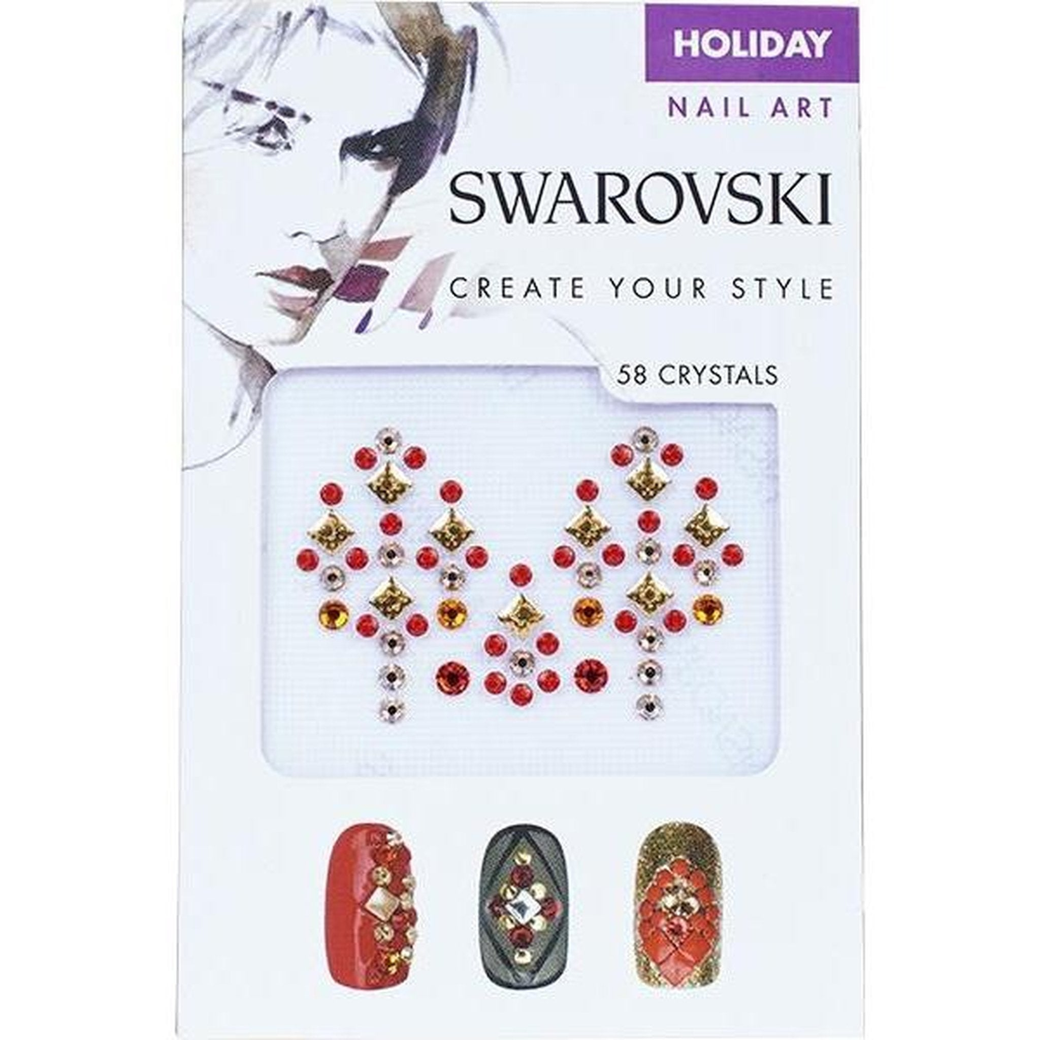 SWAROVSKI NAIL ART CRYSTAL TRANSFERS - HOLIDAY SET 2-Gel Essentialz