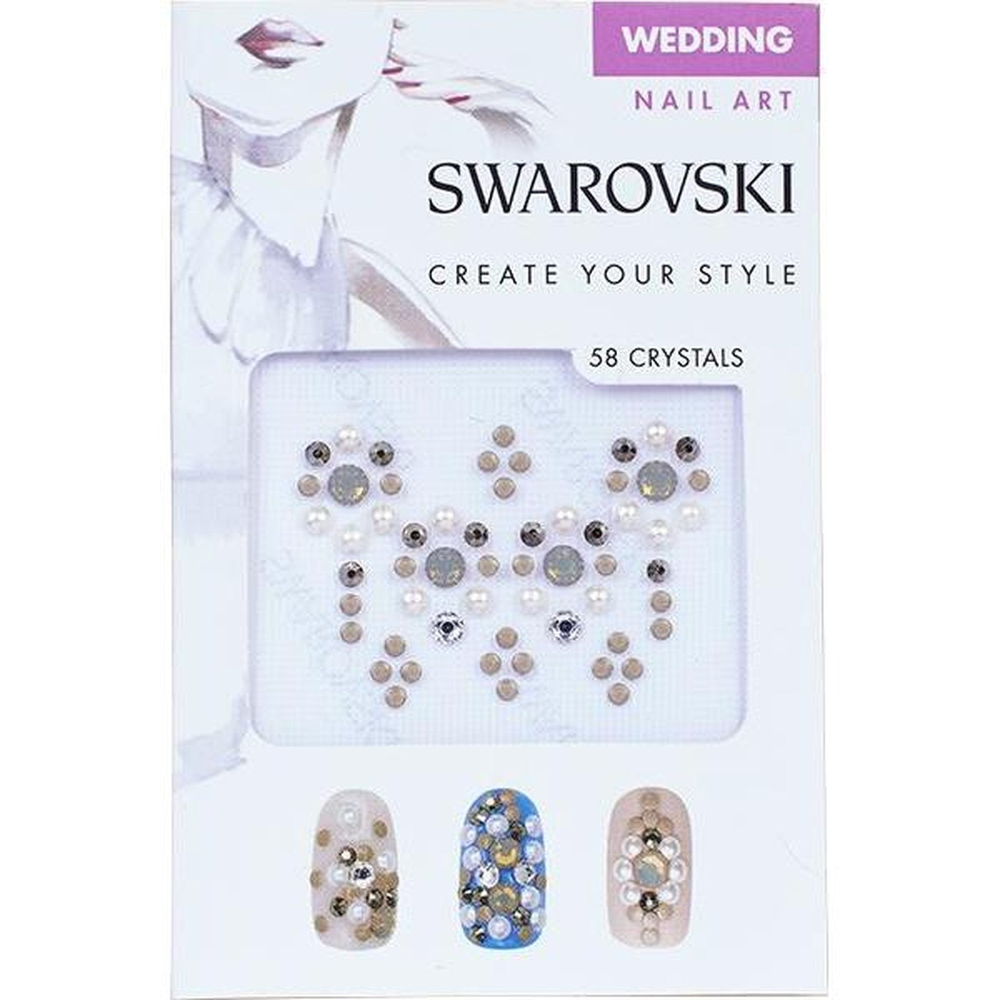 SWAROVSKI NAIL ART CRYSTAL TRANSFERS - WEDDING SET 2-Gel Essentialz