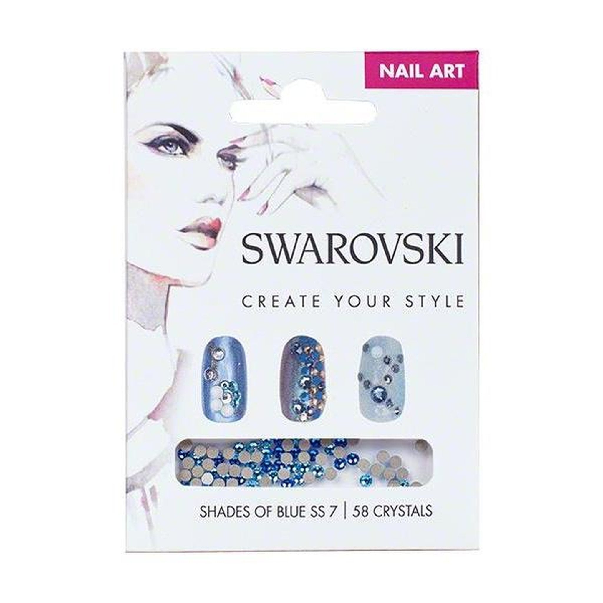 SWAROVSKI NAIL ART LOOSE CRYSTALS - BLUE SS7-Gel Essentialz