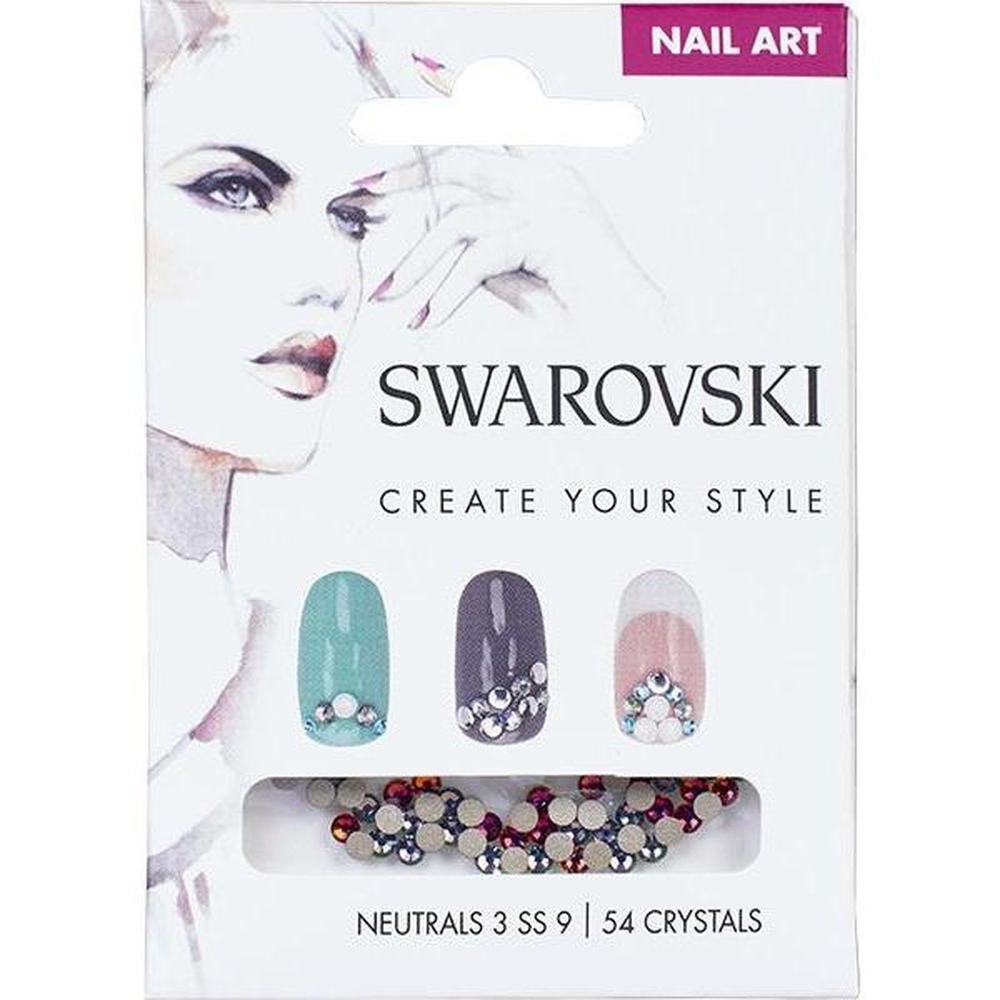 SWAROVSKI NAIL ART LOOSE CRYSTALS - NEUTRAL 3 SS9-Gel Essentialz