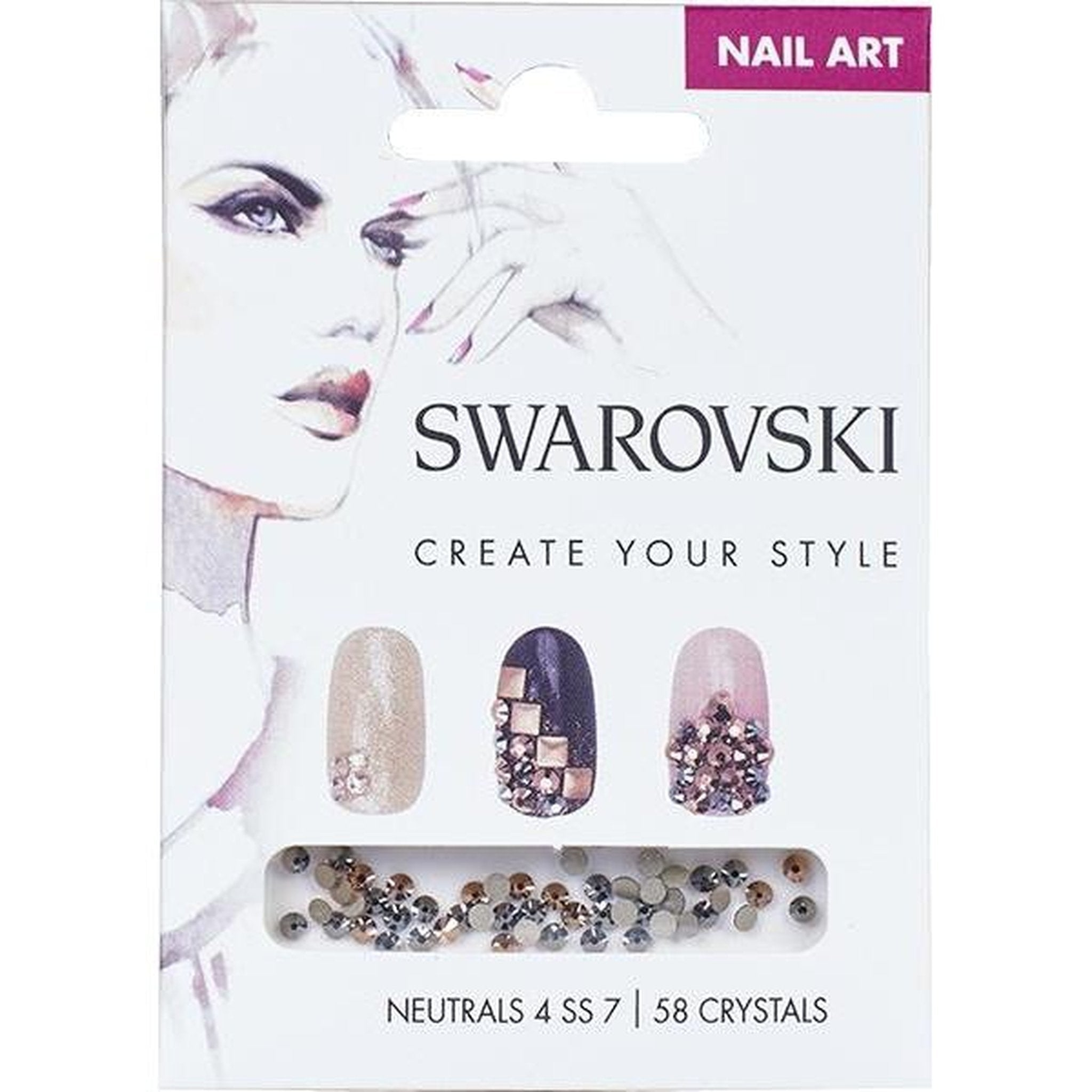 SWAROVSKI NAIL ART LOOSE CRYSTALS - NEUTRAL 4 SS7-Gel Essentialz