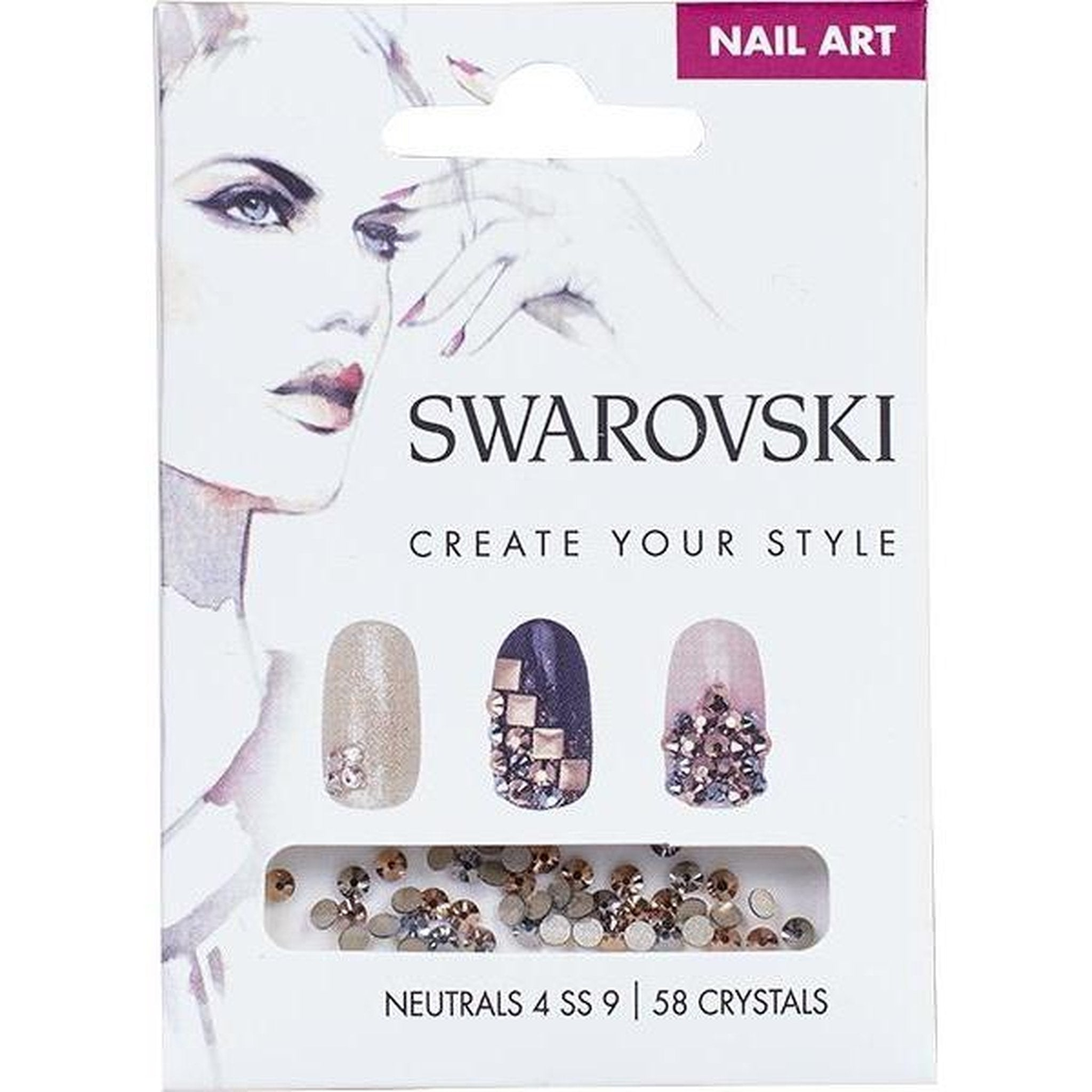SWAROVSKI NAIL ART LOOSE CRYSTALS - NEUTRAL 4 SS9-Gel Essentialz