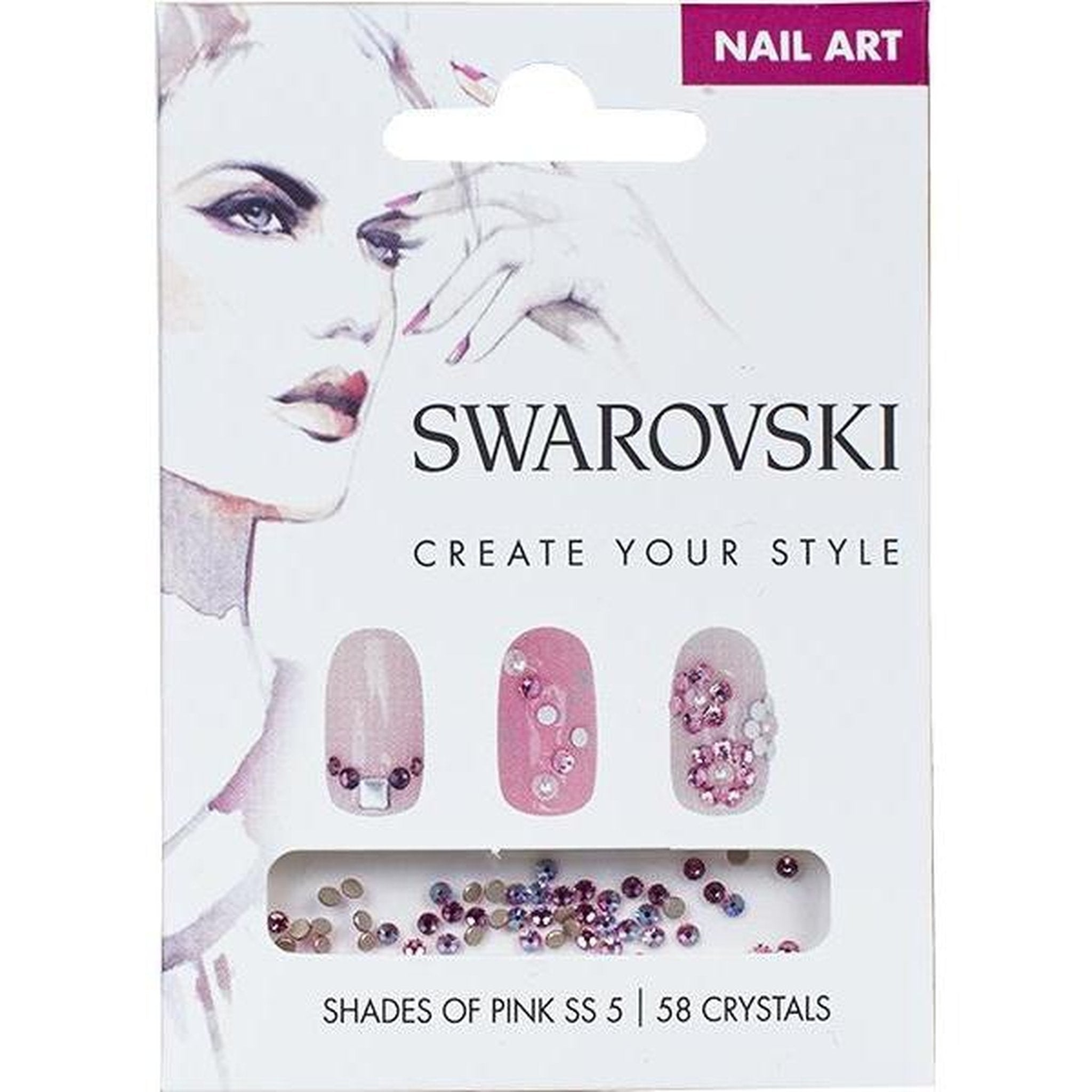 SWAROVSKI NAIL ART LOOSE CRYSTALS - PINK SS5-Gel Essentialz