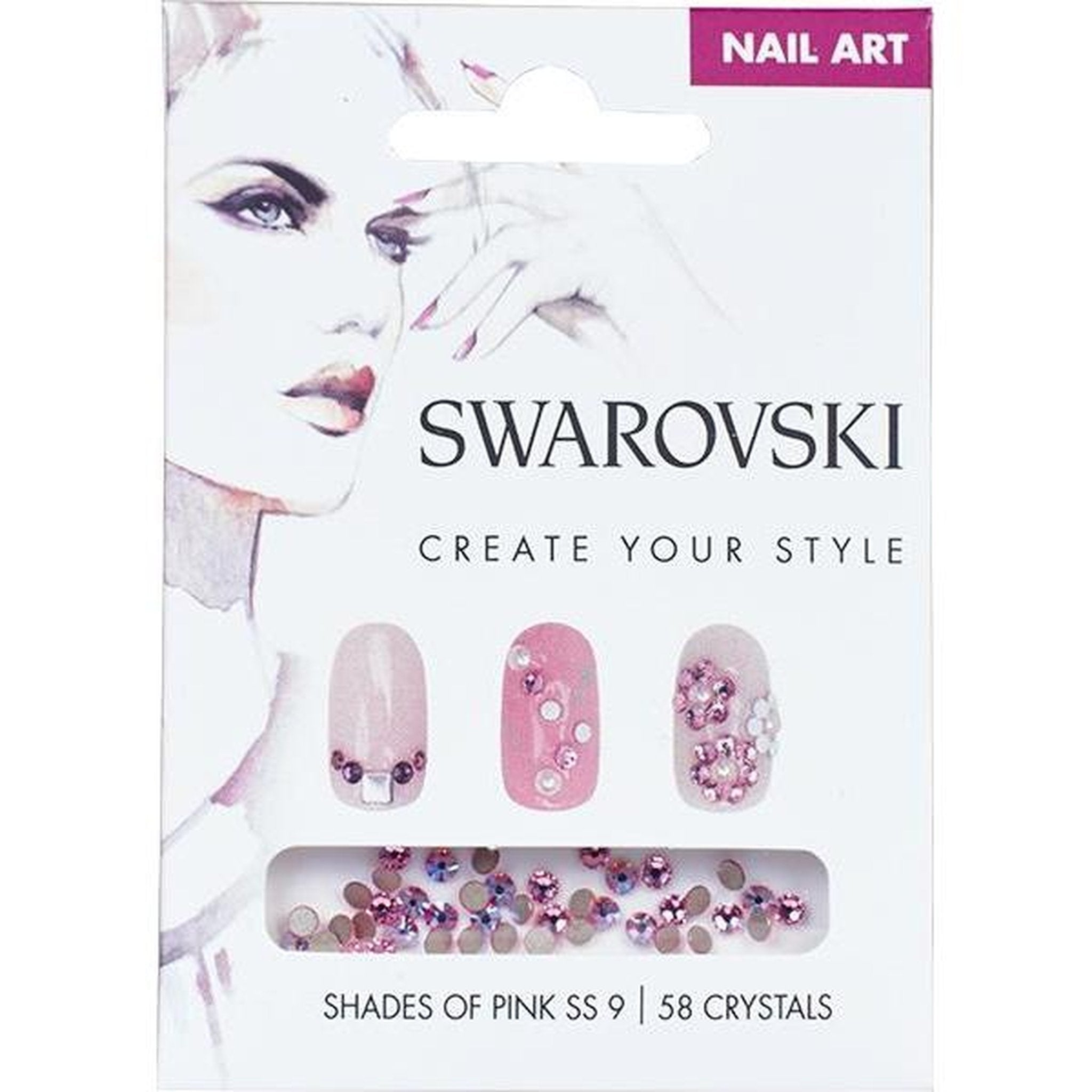 SWAROVSKI NAIL ART LOOSE CRYSTALS - PINK SS9-Gel Essentialz