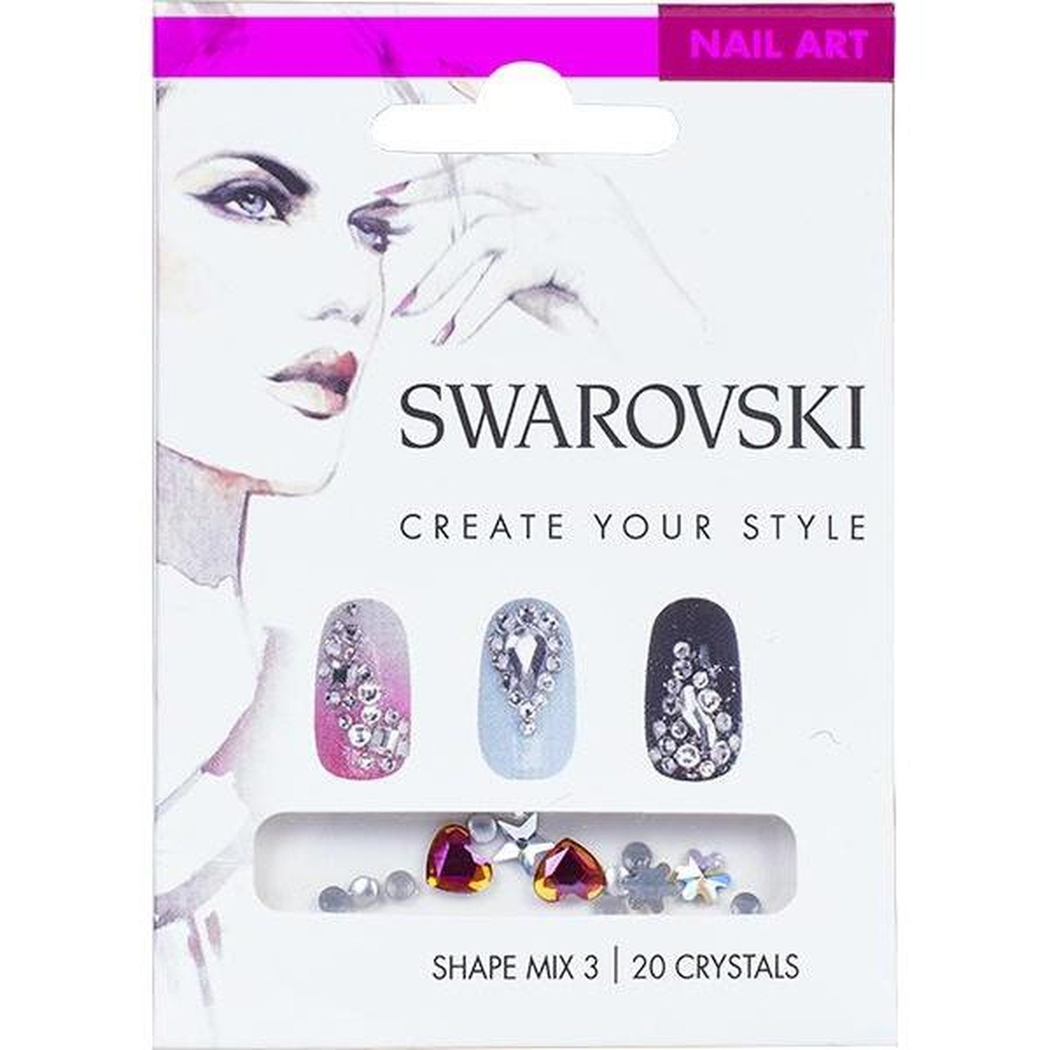 SWAROVSKI NAIL ART LOOSE CRYSTALS - SHAPE MIX 3-Gel Essentialz