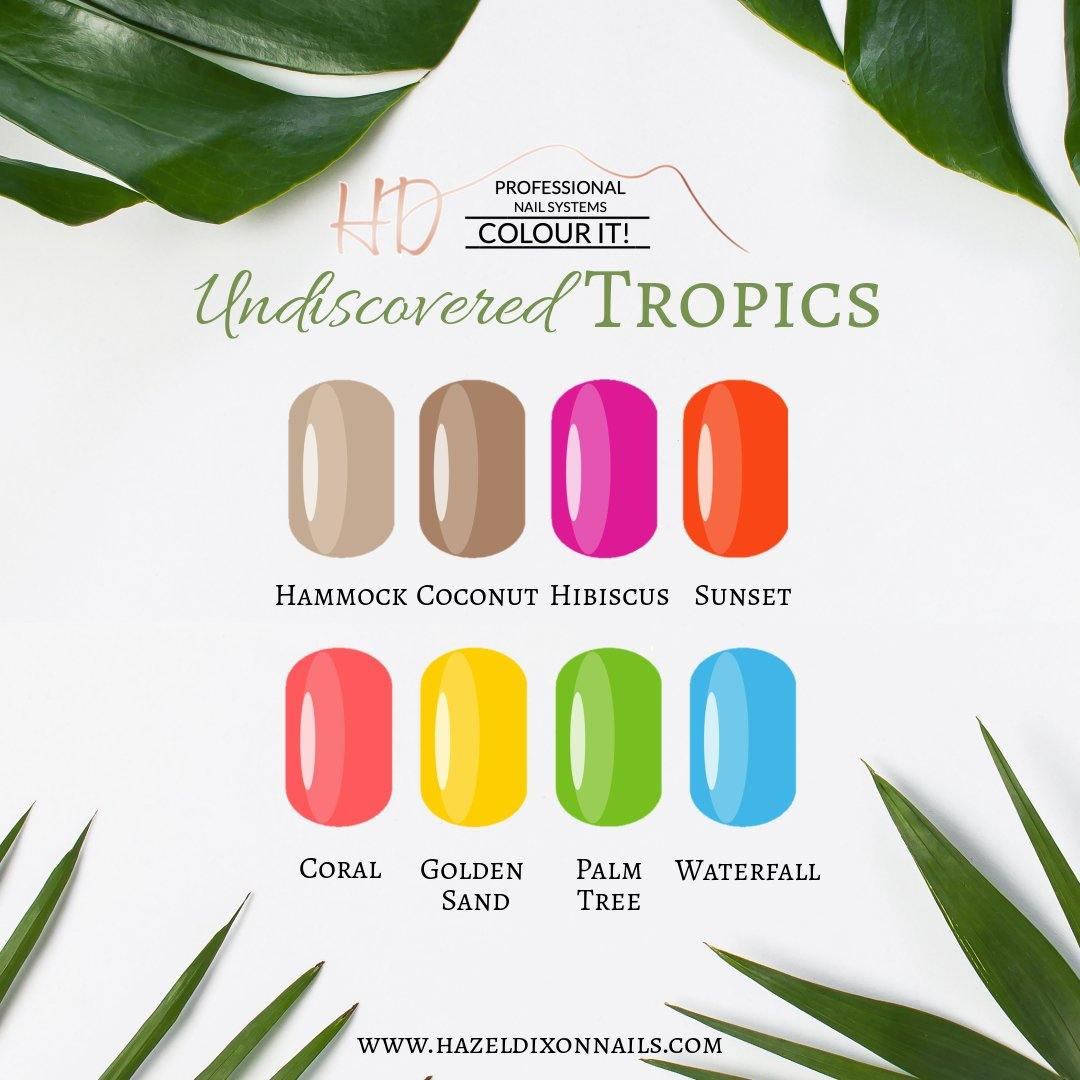 HD Colour It!  Undiscovered Tropics Collection (all 8 colors 15ml)