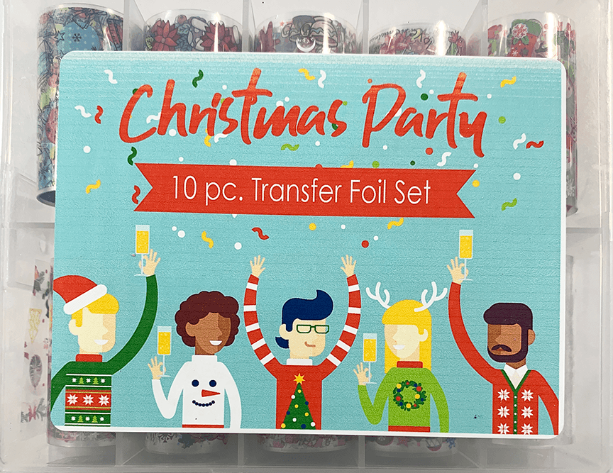 10Pc Foil Set Christmas Party