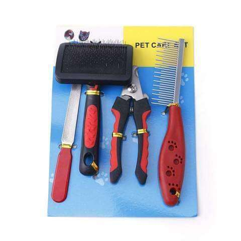 Image of Complete Grooming Care Set For Dogs & Cats Stainless Steel Rasp & Nail Clippers - www.peterspetsupplies.com