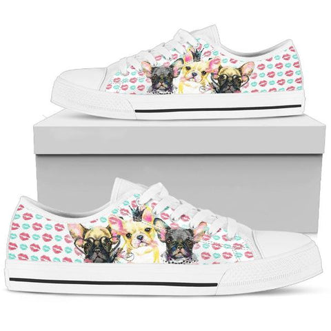 Womens French Bulldog Low Cuts Shoes