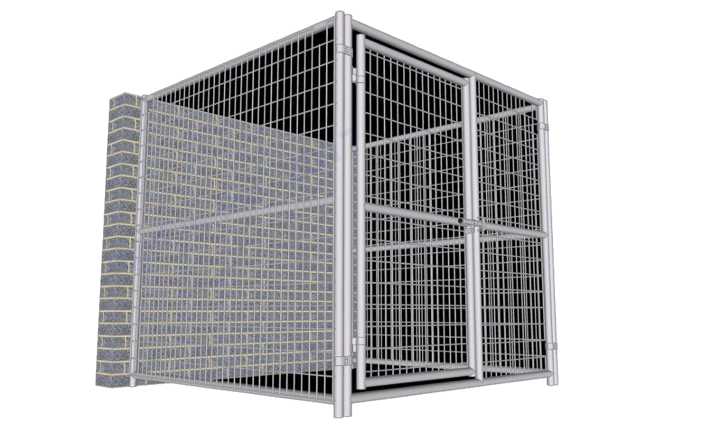Rhino Dog Kennel Indoor/Outdoor 6'W x 6'L x 6'H