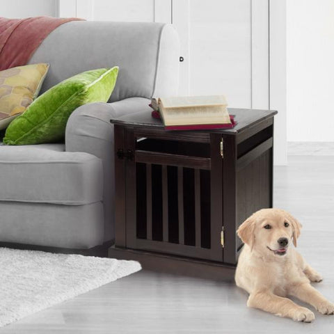 Image of Chappy Pet Crate with Wood Slats - www.peterspetsupplies.com