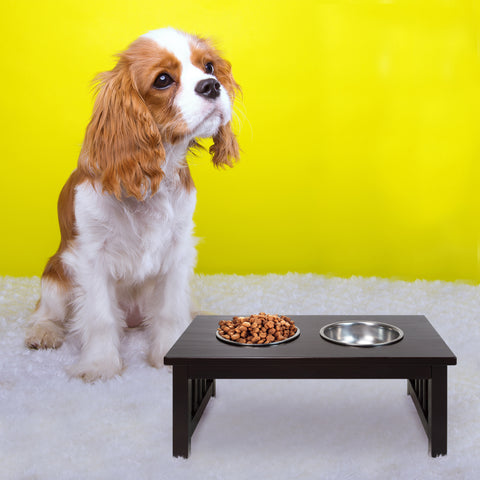 Chappy Pet Feeder with Mission Style Legs by Casual Home Yushan - www.peterspetsupplies.com