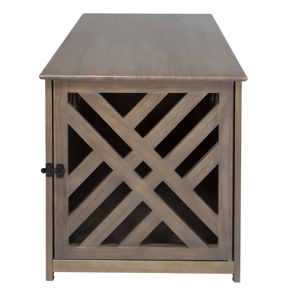 ... Modern Lattice Wooden Pet Crate End Table By Yushan ...