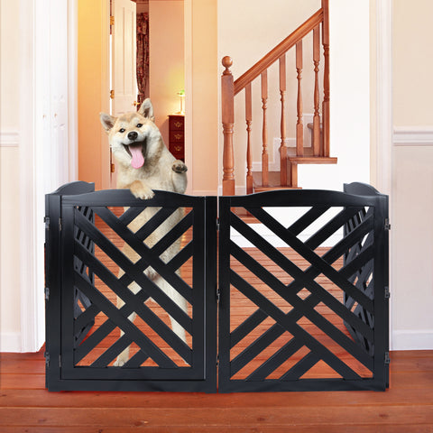 Image of Lattice Pet Gate by Casual Home - www.peterspetsupplies.com