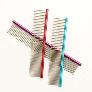 www.peterspetsupplies.com:Armi store multicolor Colorful Pet Hair Trimmer Comb 6062002 Dog Cat Grooming Dressed Hair Comb Anti-Static Comb Straight row