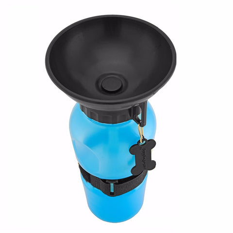 Image of Portable Travel Water Bottle with Bowl for Dogs & Cats