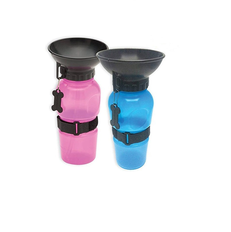 Portable Travel Water Bottle with Bowl for Dogs & Cats
