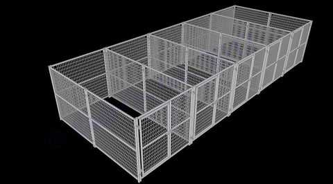 Image of Rhino Dog Kennel 5-Run 6'x12'