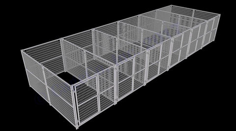 Rhino Dog Kennel 6-Run 6'x12'